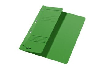 Esselte Leitz Hole Punched Folders 1/2 Front COVER-A4–Manila Cardboard-Green