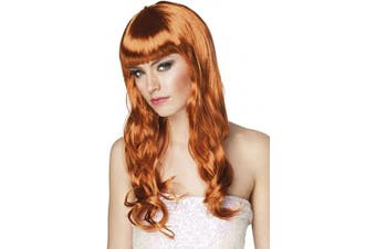 (Copper) - Chique Wig Ladies Fancy Dress Halloween Celebrity Womens Costume Accessory