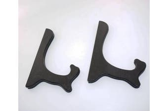 (20cm ) - Artliving Black 20cm Wood-Like Easels Plate Stand Holder Display Stands Picture Frame Stand-Set of 2