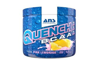 (Pink Lemonade) - ANS Performance Quench BCAA, Branched Chain Amino Acid Recovery Drink, Pink Lemonade, 375g