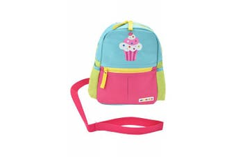 (cupcake) - Alphabetz Cupcake Toddler Backpack With Leash, Pink, blue, Yellow, Green, Universal Size For Girl