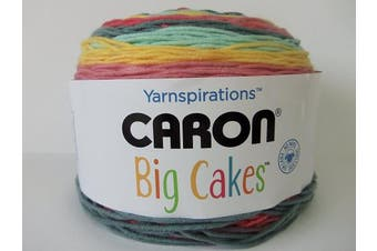 (Summer Berry Tart) - Caron Big Cakes Self Striping Yarn ~ 603 yd/551 m310ml/300 g Each (Summer Berry Tart)