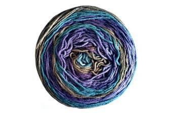 (Blueberry Torte) - Caron Big Cakes Self Striping Yarn ~ 603 yd/551 m / 310ml/300 g Each (Blueberry Torte)