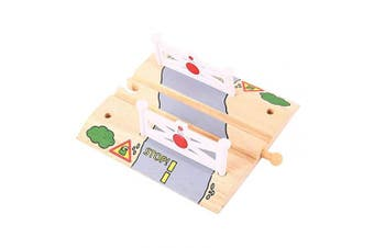 Bigjigs Rail Level Crossing - Other Major Wooden Rail Brands are Compatible