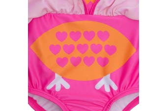 (9 - 12 Months, Flamingo and Owl) - BABY TOWN Infant Baby Girls Novelty Swimming Costume Swimsuit