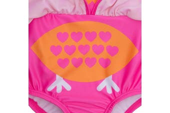 (12 - 18 Months, Flamingo and Owl) - BABY TOWN Infant Baby Girls Novelty Swimming Costume Swimsuit