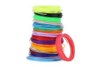 3D Pen Filament Refills, Different Colours Filament Refills For Low Temperature 3D Pen, PCL Filament Refills 5m for Each Colour, 20 3D Printing Pen Filament Refills 1.75mm