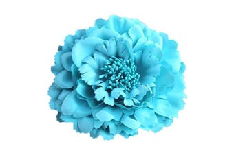 (Sky Blue) - Auranso Flower Hair Clip Peony Hairpin Flameno Dancer Pin up Flower Brooch Wedding Bridesmaid Hairpins Vintage Fascinator Sky Blue