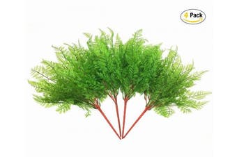 (Fern Leaves-4 Pcs) - CATTREE Artificial Shrubs Bushes, Plastic Fern Leaves Persian Grass Fake Plants Wedding Indoor Outdoor Home Garden Verandah Kitchen Office Table Centrepieces Arrangements Christmas Decoration 4 pcs