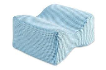 BodyHealt Orthopaedic Knee Pillow - Memory Foam Wedge Contour - Sciatica Relief, Back Pain, Leg Pain, Pregnancy, Hip and Joint Pain