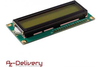 (1x LCD Display) - AZDelivery ⭐⭐⭐⭐⭐ 1602 LCD Display Module 2 x 16 characters with green background for Arduino including free eBook!