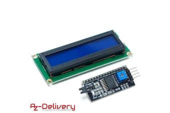 (1x LCD Blau + I2C) - AZDelivery ⭐⭐⭐⭐⭐ HD44780 1602 LCD module display, 2 x 16 characters for Arduino 1x LCD Blue + I2C