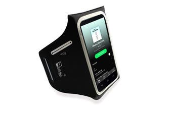 """(5.6"""" Screen) - iPhone Plus 8/7/6 Lightweight Running Armband with Extra Pockets for Keys, Cash and Bank Cards. Phone Arm Holder for Sports, Gym Workouts and Exercise"""