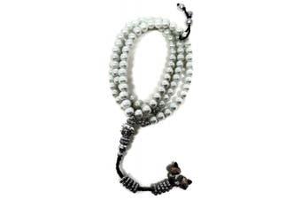 (8 mm., White) - Muslim Colourful Tasbih 99 Rosary Beads Amn083 Islam Prayer Zikr Subha Misbaha Ramadan Gift (White, 8 mm.)