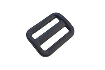 (30 Pcs Black - 2.5cm ) - 30 Pcs 2.5cm Plastic Triglides Slides for Webbing, Fasteners Strap and Backpack