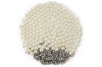(10mm) - Anladia Lots Pearls Rivets Studs Buttons Embellishment Wedding Dress Jeans Hat Bag Purse 200pcs 10mm