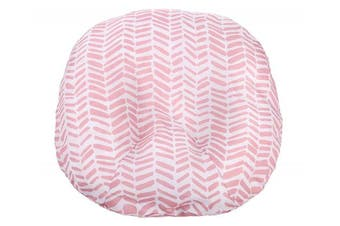 (Pink Herringbone) - Mila Millie Water Resistant Removable Cover for Newborn Lounger | Pink Herringbone Design | Premium Quality Soft Wipeable Fabric | Great Baby Girl Shower Gift (Pink Herringbone)
