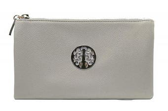 (Light Grey) - Aossta Small Clutch Bags Crossbody Bag With Wristlet and Long Adjustable Strap