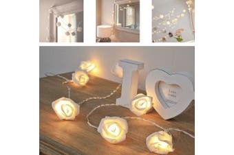 (Warm White) - Rose Flower Fairy Lights - AITOO Battery Operated 30 Led String Rose Flower Fairy Lights Ideal For Indoor & Outdoor Bedroom Decor Christmas Xmas Wedding Rose Flower Fairy String Lights[Warm White]