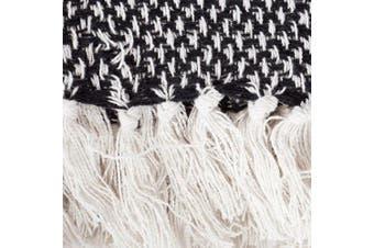 (Black) - DII Transitional Woven Throw, 50x60, Black