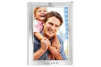 Daddy And Me Silver Plated 6x4 6 x 4 Hearts Picture Photo Keepsake Frame Gifts Idea From Daughter Son Kids Baby For Birthday Fathers Day Christmas