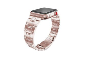 (38mm/40mm, X-Silver) - For iWatch Strap 38mm, Aottom 38mm Apple Watch Strap Stainless Steel Replacement Band Grid Pattern Wrist Strap with Folding Metal Bracelet Buckle Clasp for 38mm iWatch Band Series 3/2/1 - Rose Pink