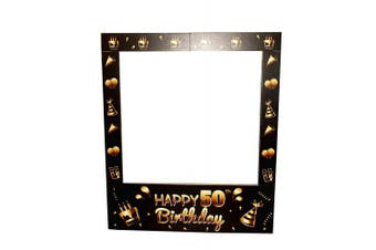 Aahs Engraving Happy 50th Birthday Party Photo Frame Prop, 90cm X 80cm