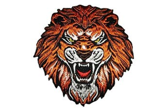(Small, Multicolored 3) - Iron on roar tiger patch sew on applique embroidered patches appliques for clothes (Small, Multicoloured 3)