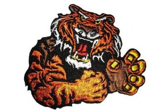 (Small, Multicolored 5) - Iron on tiger patch sew on applique embroidered patches appliques for clothes (Small, Multicoloured 5)