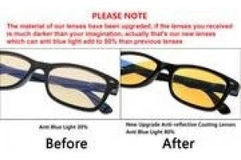 Eyekepper Spring Hinges UV Protection, Anti Glare Anti Blue Rays, Scratch Resistant Lens Computer Reading Glasses Readers (Yellow Tinted Lenses, Black-Yellow) +3.5