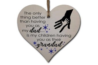 Handmade Wooden Hanging Heart Plaque Gift for Dad this Fathers Day Thoughtful Keepsake
