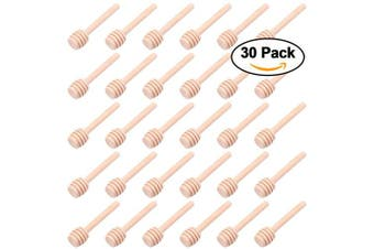 30 PCS Mini Wood Honey Dipper Sticks, 7.6cm Server for Honey Jar Dispense Drizzle Honey
