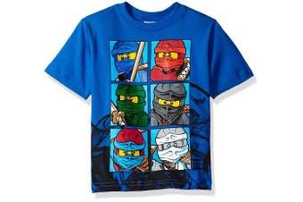 (Little Boys, 7, Blue) - LEGO Ninjago Boys' T-Shirt