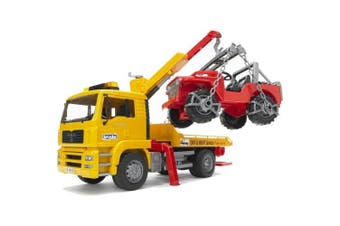 Bruder Toys MAN TGA Tow Truck with Cross Country Vehicle