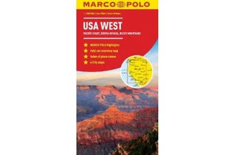 USA West Map (Marco Polo Maps)