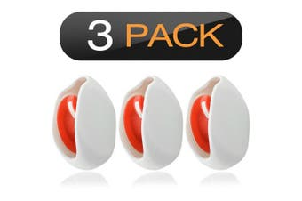 (3PCS/White) - Geekria In-Ear Headset Smart Storage Box/Headphone Cable Storage Organiser/Earbuds Holder Case/Earphone Bobbin Winder Wrap/Cord Tangle-Free Portable Manager/Wire Keeper (3PCS/White)