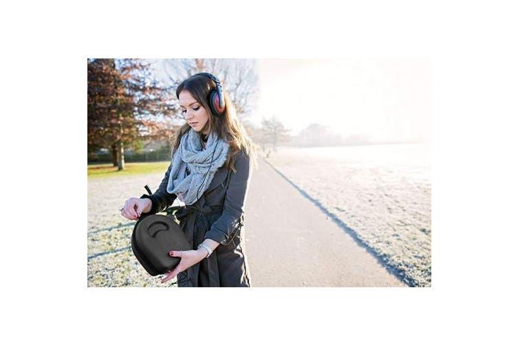 (Black) - DURAGADGET Hard Black EVA Headphone Case (Headphones NOT Included) - Suitable for use with Muse Brain Sensing Headband