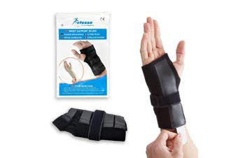 (Medium Left (15-17 cm)) - Actesso DELUXE Wrist Support Splint - Ideal Brace for Immediate Pain Relief from Carpal Tunnel - Arthritis - or Sprains. UK Made