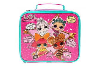 LOL Suprise Kids Lunch Bag, 600D polyester, Pink, 8(w) x 23(d) x 19.5(h) cm