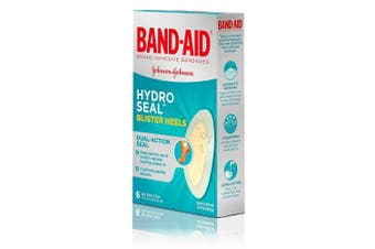 (Medium) - Band-Aid Brand Hydro Seal Adhesive Bandages for Heel Blisters, Waterproof Blister Pads, 6 ct