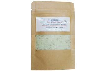 (30g) - ATTIS Luxurious Bath Salt Soak with Fir & Lavender Essential Oils, Magnesium Oil, Epsom Salt, Spirulina | Vegan | Hand made | Relaxing | Refreshing | Calming (30g)