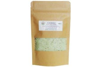 (100g) - ATTIS Luxurious Bath Salt Soak with Fir & Lavender Essential Oils, Magnesium Oil, Epsom Salt, Spirulina | Vegan | Hand made | Relaxing | Refreshing | Calming (100ml)