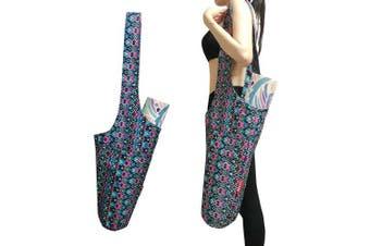 (Magic) - Aozora Yoga Mat Bag | Yoga Mat Tote Sling Carrier with Large Side Pocket & Zipper Pocket | Fits Most Size Mats