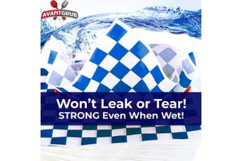 (Blue) - Avant Grub Deli Paper 300 Sheets. Turn Your Backyard Cookout Party into Oktoberfest with Blue & White Chequered Food Wrapping Papers. Grease-Resistant 12x12 Sandwich Wrap Prevents Food Stains!