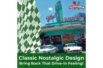 (Green) - Avant Grub Deli Paper 300 Sheets. Turn Your Backyard Cookout Party into a Special Event with Green & White Chequered Food Wrapping Papers. Grease-Resistant 12x12 Sandwich Wrap Prevents Food Stains!