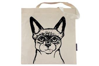 (Smokie the Siamese) - Cat Tote Bag by Pet Studio Art