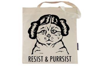(Purrincess Leia) - Cat Tote Bag by Pet Studio Art