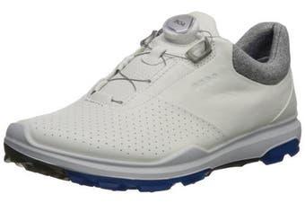 (43 M EU (9-9.5 US), White/Dynasty) - ECCO Men's Biom Hybrid 3 Boa Gore-Tex Golf Shoe