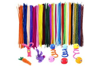 (600 Pcs) - Acerich 600 Pcs Assorted Colours Pipe Cleaners DIY Art Craft Decorations Chenille Stems (6 mm x 12 Inch)