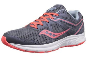 (5.5 B(M) US, Grey/Red) - Saucony Women's Cohesion 11 Running Shoe